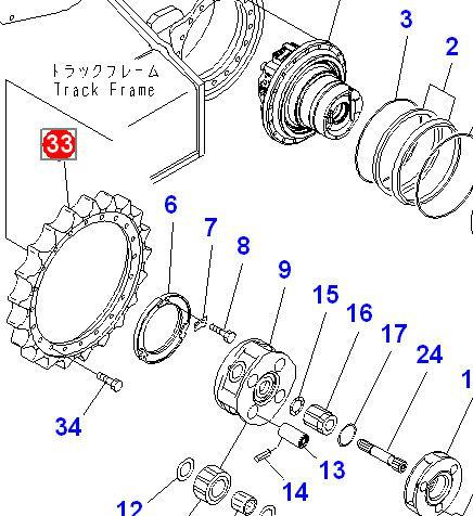 PC200-8 Final Drive Assy part Sprocket 20Y-27-11582 ,20Y
