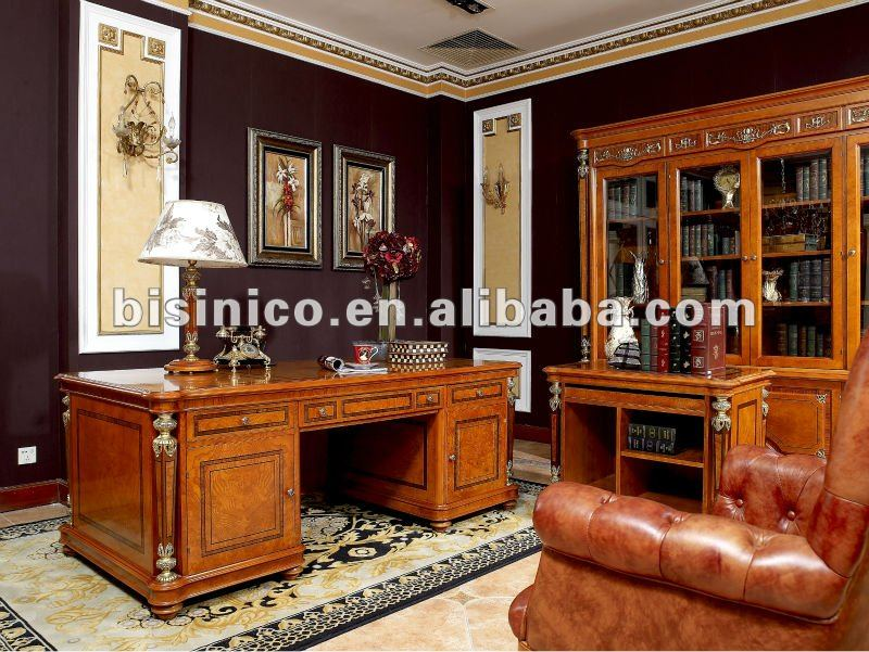 Antique Classical Wooden Home Office Furniture SetMoq