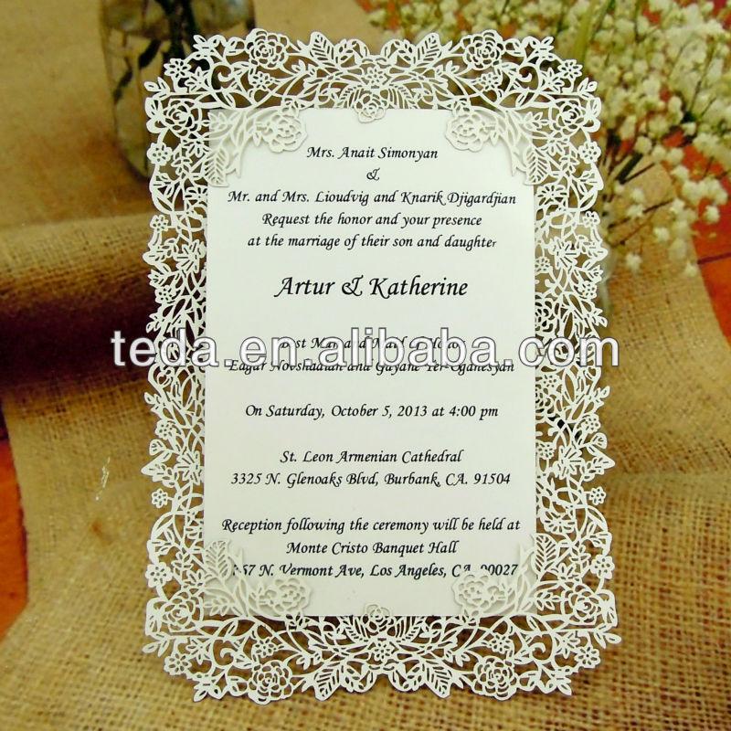 Creative Wedding Invitation Card Invitations Personalized Hollow Metal