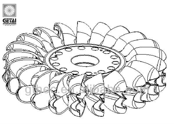 Micro Pelton wheel (runner) for hydro turbine power plant