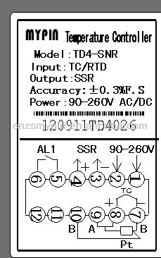 TD4-SNR Digital PID Temperature Controller Manual, View