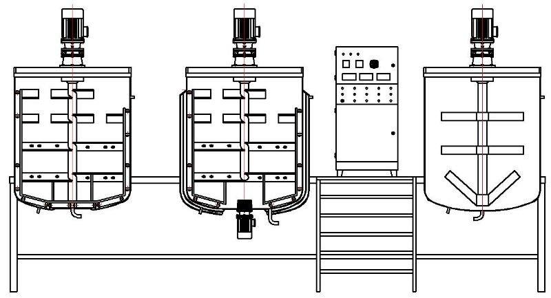 Automatic Liquid 2000l Detergent Blending And Mixer Tank