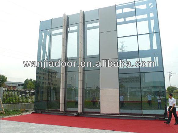 Aluminum Frameless Curtain Wall Glass Extruded Frame Walls