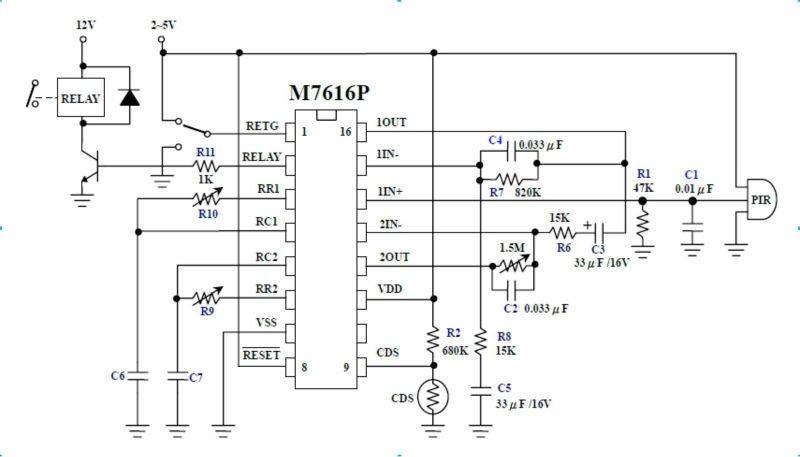 gold detector circuit diagram wiring symbol for fuse 16 pins smd or dip pir controller m7616 human motion - buy ic,pir ...