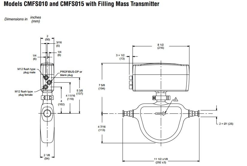 Professional Emerson Micro Motion Coriolis Meter Cmf050