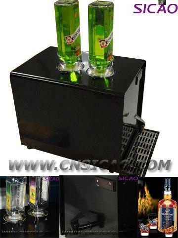 2 Bottles Ice Shot Machine Dispenser Liquor ChillerCold