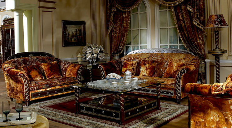 Italian Design Wood Carving Living Room Royal Furniture