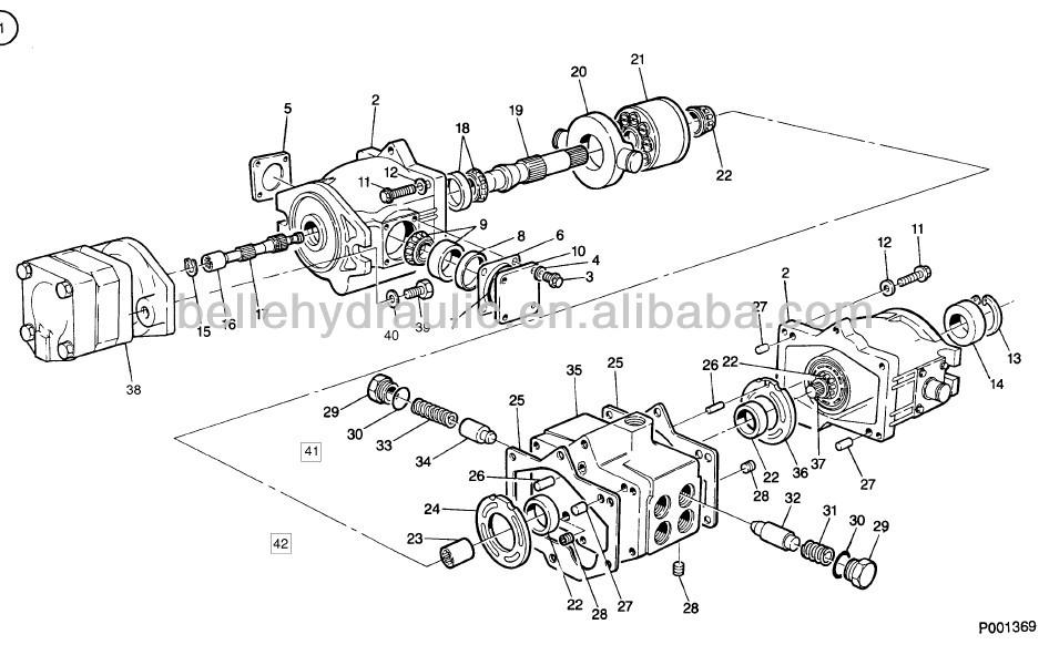 Eaton 78363 Axial Piston Pump Ta1919 Tandem Pump Made In