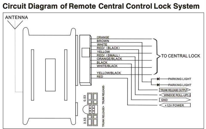 Universal Car Keyless Entry System Lock/unlock/car