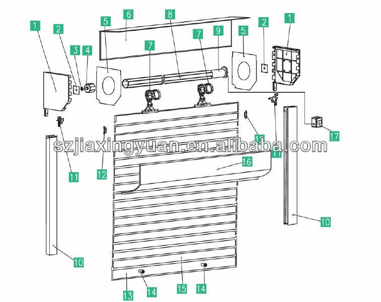Residential Electric Aluminum Roller Shutter Garage Door