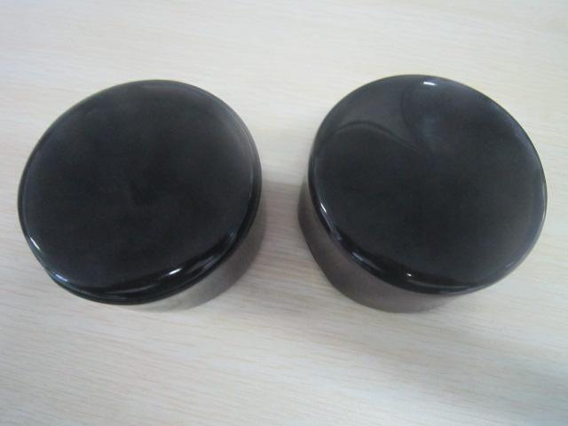 Aluminum pipe end cap/ Black soft round end caps for steel