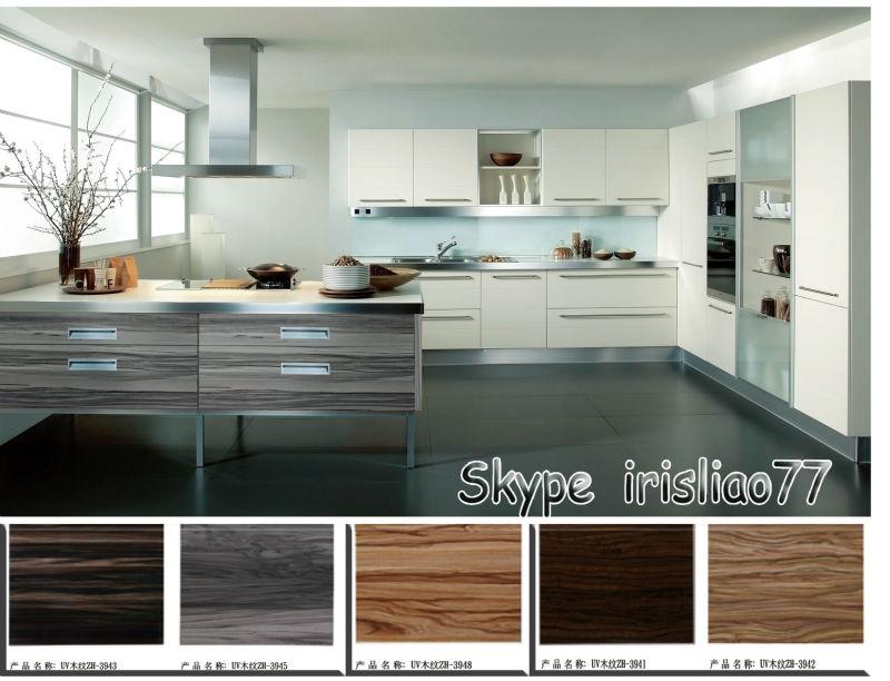 kitchen cabinet warehouse home depot uv high gloss wood grain door - buy ...