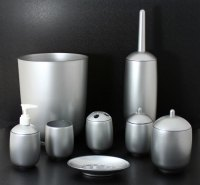 Silver Painted Luxury Acrylic Bathroom Accessories/sets ...