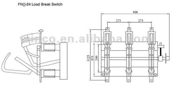 NEW! LBS 24KV FN24 Indoor H.V. Vacuum Load Break Switch
