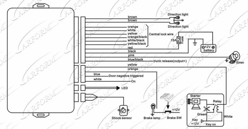 cobra 3190 alarm wiring diagram
