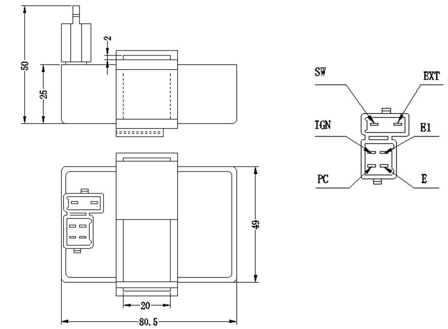 CF250 CDI of motorcycle parts, View CDI, jantel Product