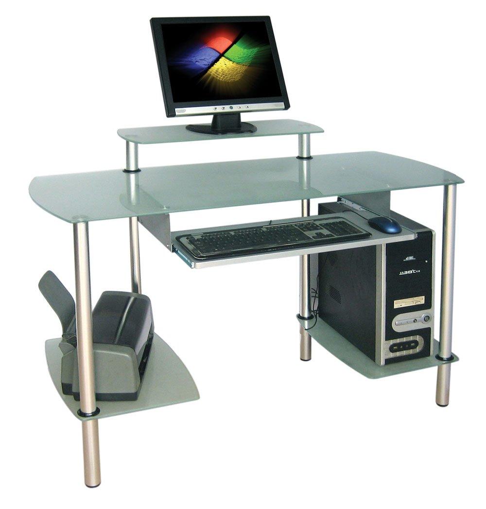 Glass Computer Desk In Home  Buy Glass Computer Desk In