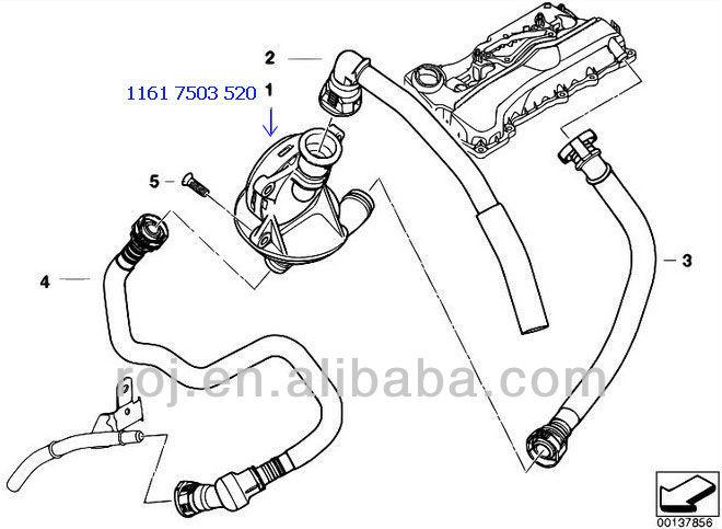 Engine Valve 1161 7503 520 For Bmw E87 E46 E90 E91 E83 E83