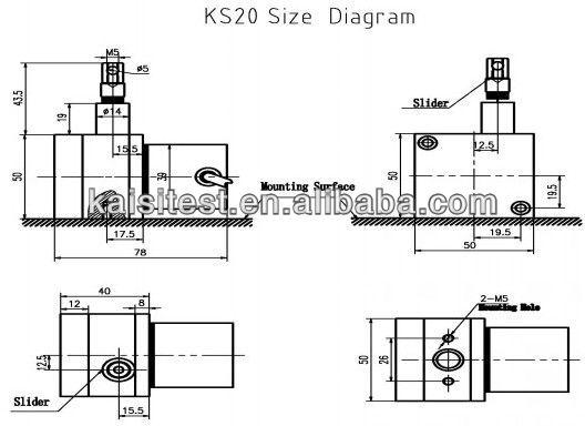 Digital KS20-1000-L-5 measuring distance 1000mm draw wire
