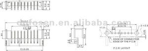 Pcb 7 Pin Sim Battery Connector Ts4003  Buy Pcb Battery
