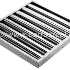 Kitchen Filter Ikea Remodel Cost Stainless Steel 49x49x25mm Range Hood Baffle Buy