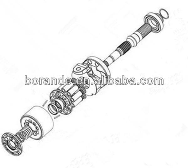 Pc200-7 Hydraulic Pump Parts Excavator Parts Hydraulic