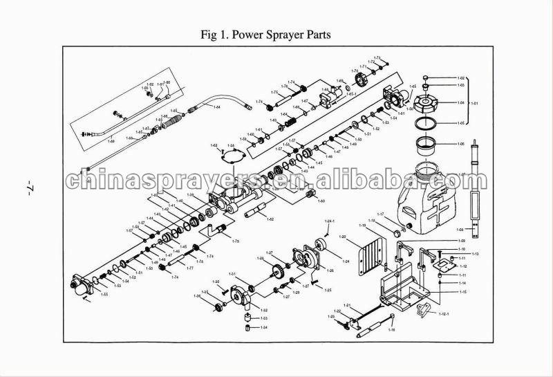 Knapsack Mitsubishi engine power Sprayer TF-900A, CE