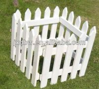 Decorative Small Rural Garden Fence White Wood Fencing ...
