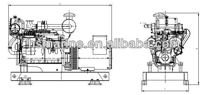 Factory price water cooled 90kw marine diesel generator