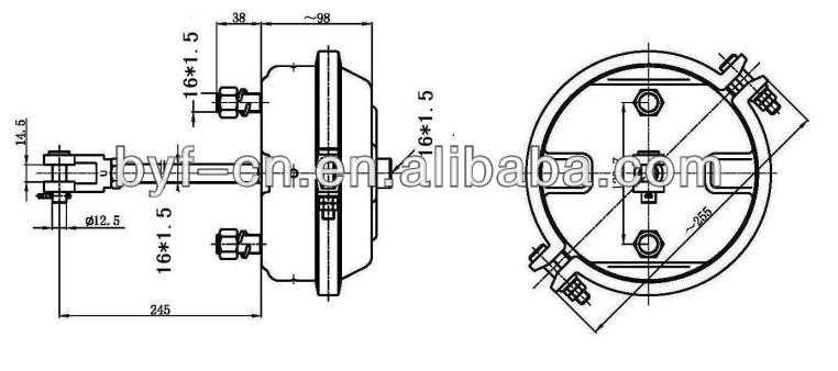Byf Deep Stroke Double Black Electrophoresis Air Brake