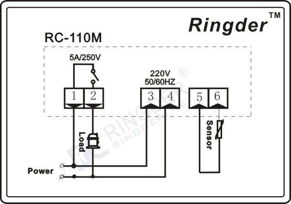 RC-110M Temperature Controller, View Temperature