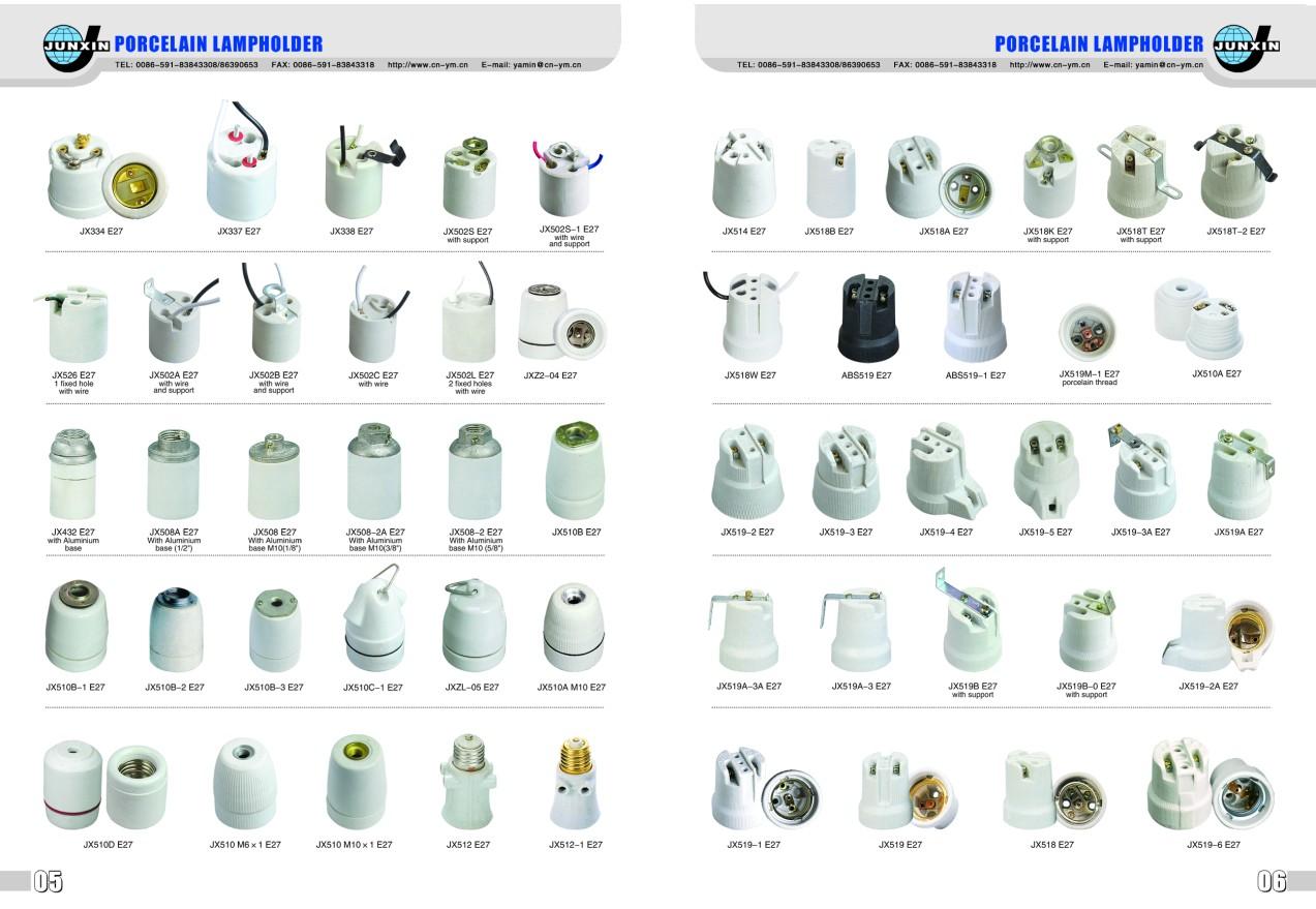 Electronic Spot Light Holderporcelain Lamp Socketbulb