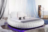 Led Lather Round Beds Australia Market Hot Sale