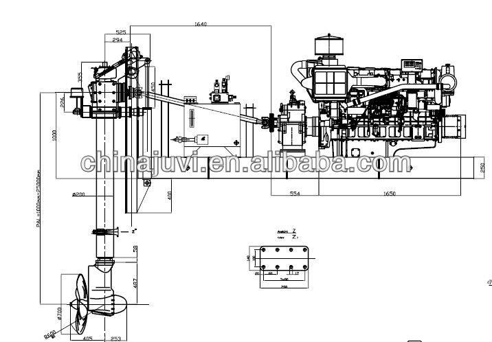 150hp(110kw) Engine Drive Deck Installation Azimuth