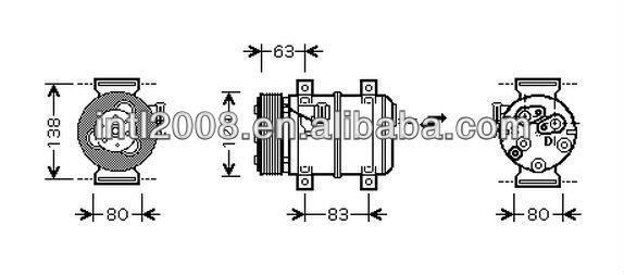 ZEXEL DKS15CH Car air ac Compressor for Volvo S60 V70 S80
