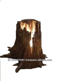 Natural Tree Stump Wood Lamp - Buy Handcrafted Wood Lamps ...
