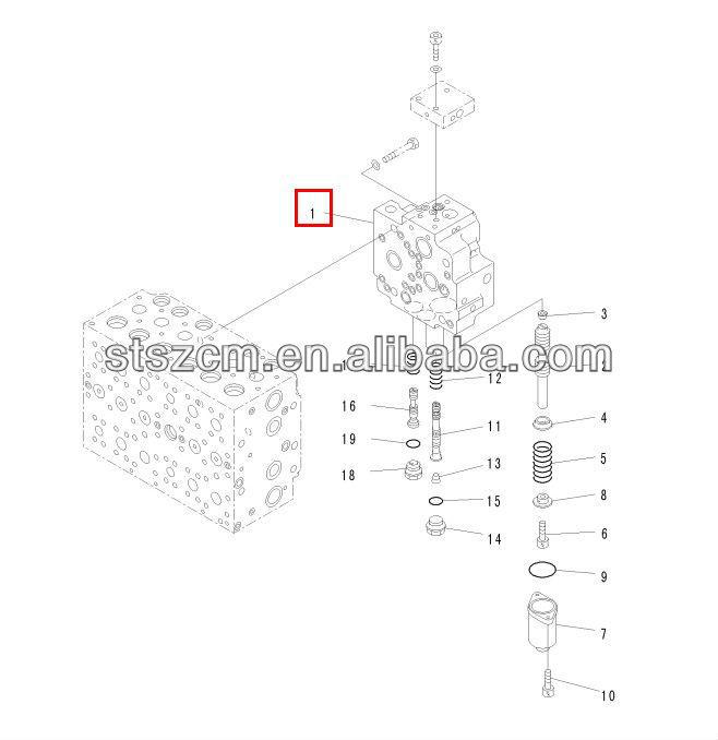 excavator spare parts, PC400-7 valve 723-40-71201, main