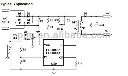 10v Dimming Wiring Diagram Led Downlight Proxy Ac Led Driver Ic Ft838rna Low Power Off Line Cc Cv