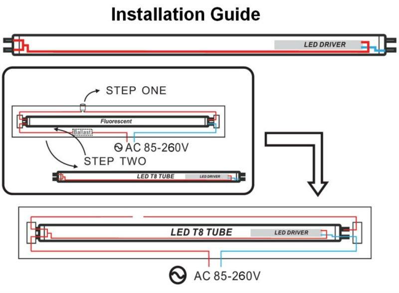 T8 Led Tube Light Circuit Diagram Efcaviation Com