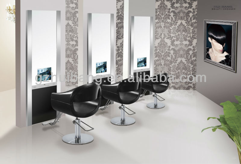 Hair Salon Mirror Station Styling Station With Tv Hbb384