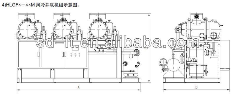 Jzhlgf Series Air Cooled Compressor Racks(with Hanbell