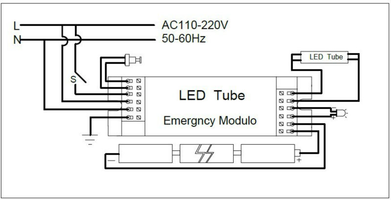 emergency light wiring diagram non maintained