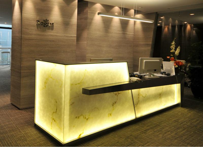 Translucent Backlit Onyx Counter Beauty Salon Curved Reception Desk  Buy Reception Desk