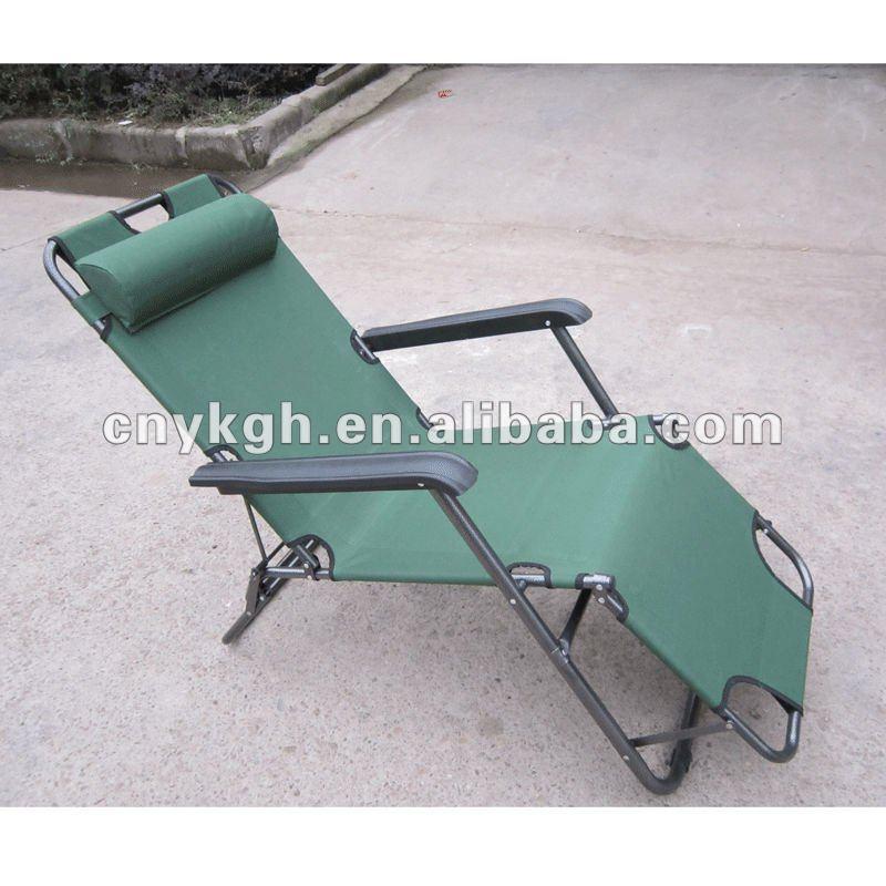 Folding Sleeping Sun Chairs With Pillow Vla