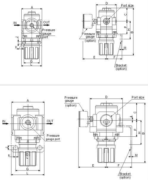 SMC Air Pressure Regulator AR2000-02, View Air Pressure