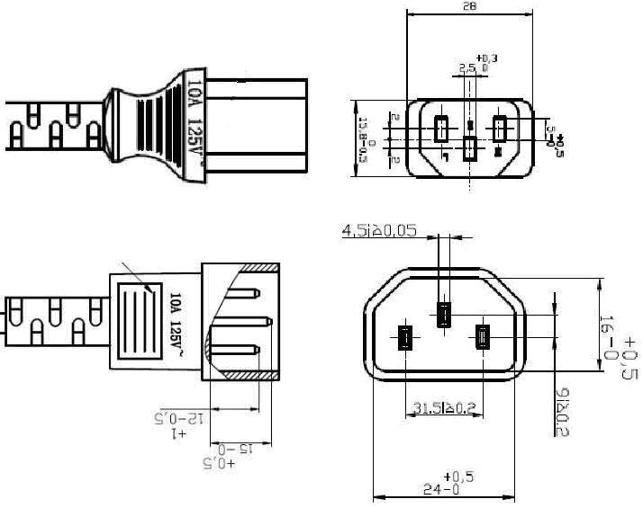 pin plug wiring diagram us