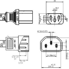 Iec Power Cord Wiring Diagram Apollo Gate Opener C13 To C14 Extension Cable Monitor Pc Lead - Buy Male Female ...