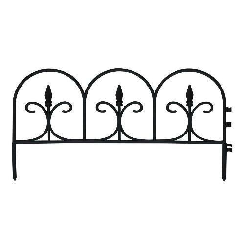 Outdoor Lawn Edging Decorative Short Metal Garden Fence