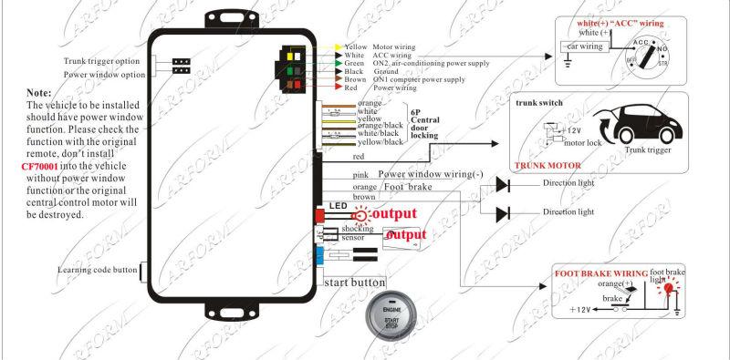 car alarm wiring color code viper car