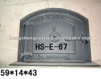 Antique Vertical Cast Iron Fireplace Door/stove Parts ...